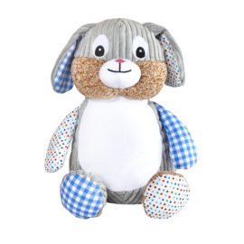 Blue Patchwork Bunny Cubby