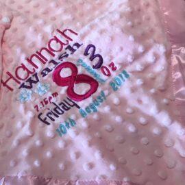 pink dimple blanket