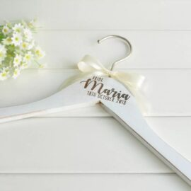 wooden bridal party hanger