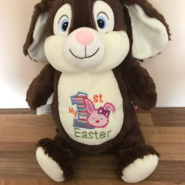 Brown Bunny Cubby with design