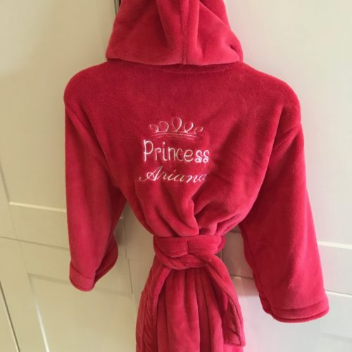 red kids robe