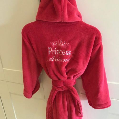red kids robe