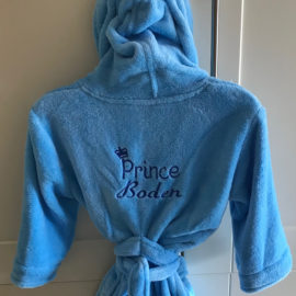 blue kids robe
