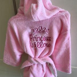 Pink robe kids