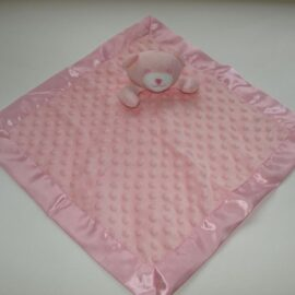 pink bear comforter