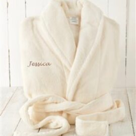 white adult robe