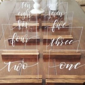 Acrylic Table Numbers Wedding Party