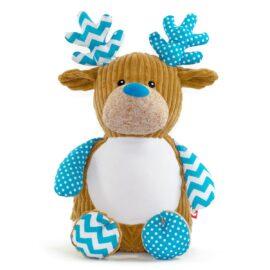 Blue Christmas Reindeer Cubby