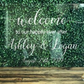 Acrylic Happily Ever After Sign