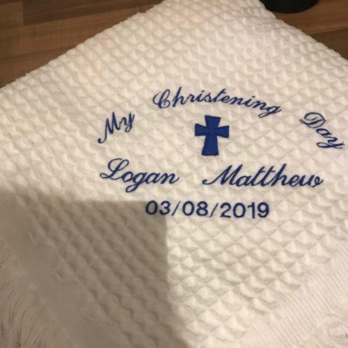 christening shawl
