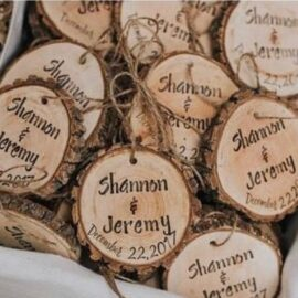 Personalised Wooden Wedding Favours