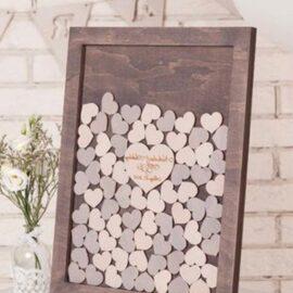 Wooden Heart Memory Frame