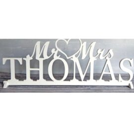 top table wedding sign mr and mrs