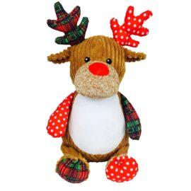 Christmas Tartan Reindeer Cubby